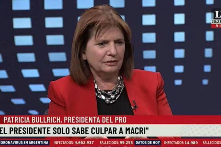 Patricia Bullrich, referente del núcleo duro de la oposición