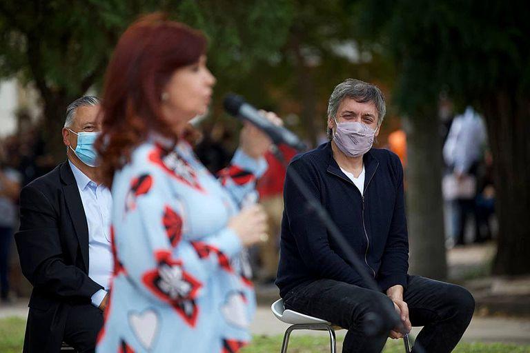 Cristina Kirchner y su hijo, Máximo Kirchner