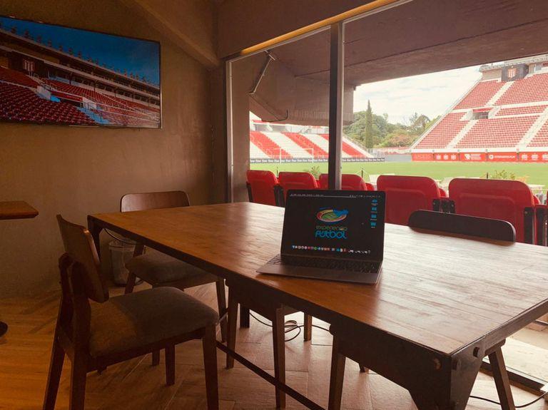 Vista privilegiada de la cancha de Estudiantes de La Plata