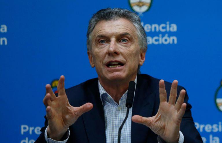 El presidente Mauricio Macri en conferencia de prensa