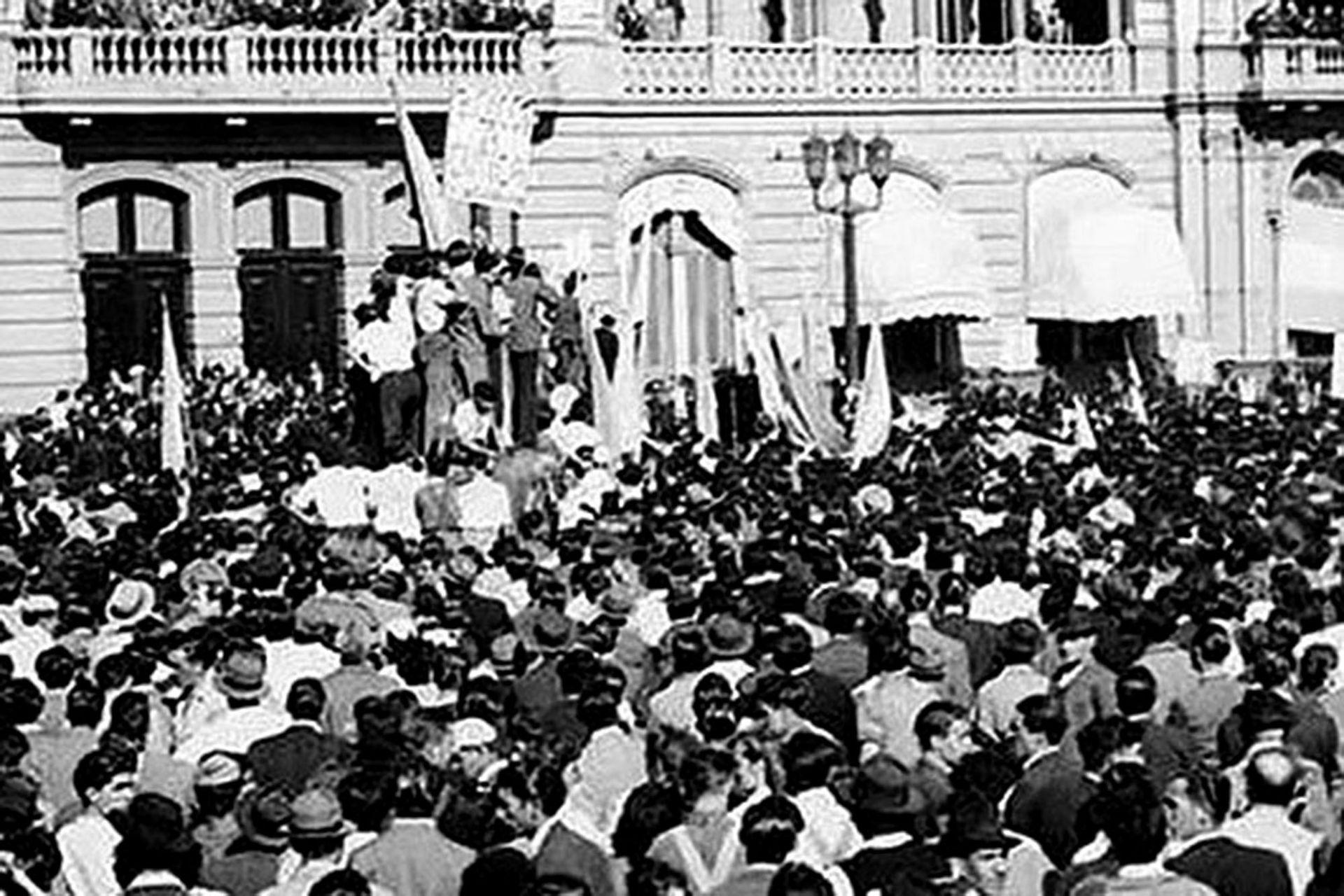 Los sindicatos impulsaron las movilizaciones del 17 de octubre de 1945, que tuvieron como epicentro la Plaza de Mayo