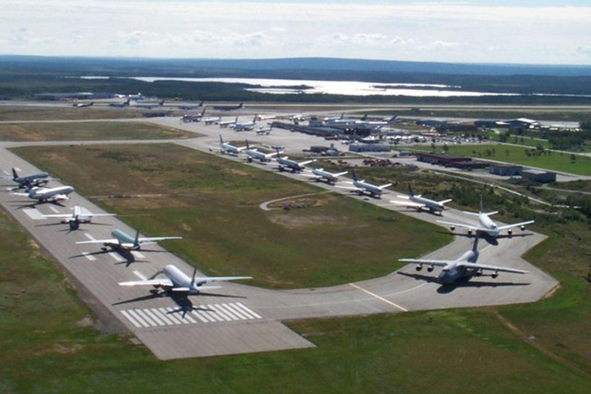 El aeropuerto de Gander, el 12 de septiembre de 2001