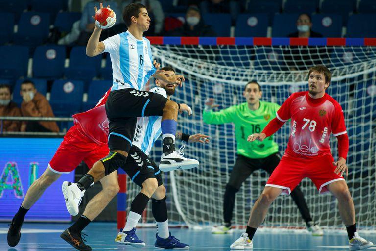 Diego Simonet, en acción durante el Mundial de Egipto
