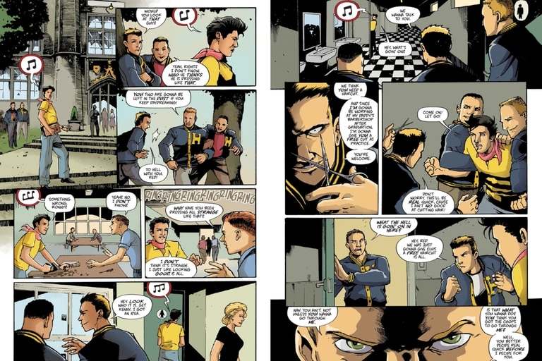 """Fragmento de """"Elvis Presley: La Novela Gráfica"""", el comic dedicado al ícono del rock"""