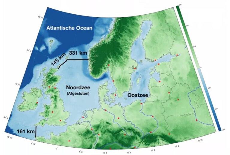 La ubicación de las represas propuestas por Sjoerd Groeskamp y Joakim Kjellsson