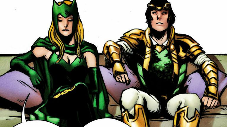 Enchantress junto a Loki