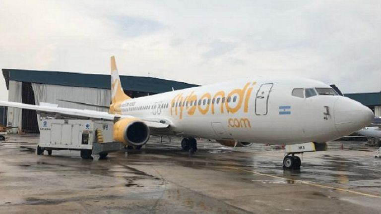 El avión de Flybondi