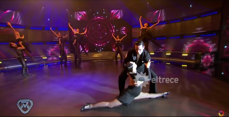 Pampita bailando Adiós Nonino en el regreso de Showmatch. Foto: YouTube