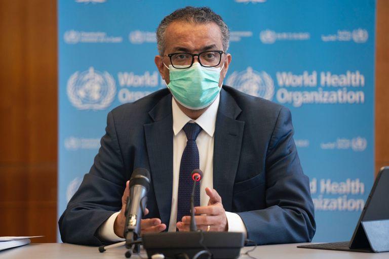 15-01-2021 El director general de la Organización Mundial de la Salud (OMS), Tedros Adhanom Ghebreyesus, durante la reunión del Comité de Emergencias de la OMS. En Ginebra (Suiza), a 14 de enero de 2021. POLITICA SALUD OMS
