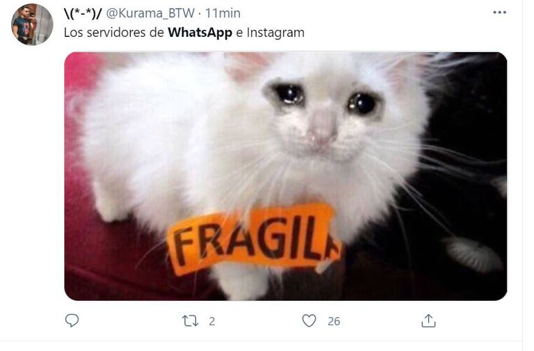 Las burlas contra WhatsApp e Instagram se multiplicaron en Twitter