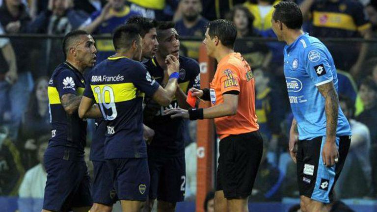 Germán Delfino controló bien el partido entre Boca y Belgrano