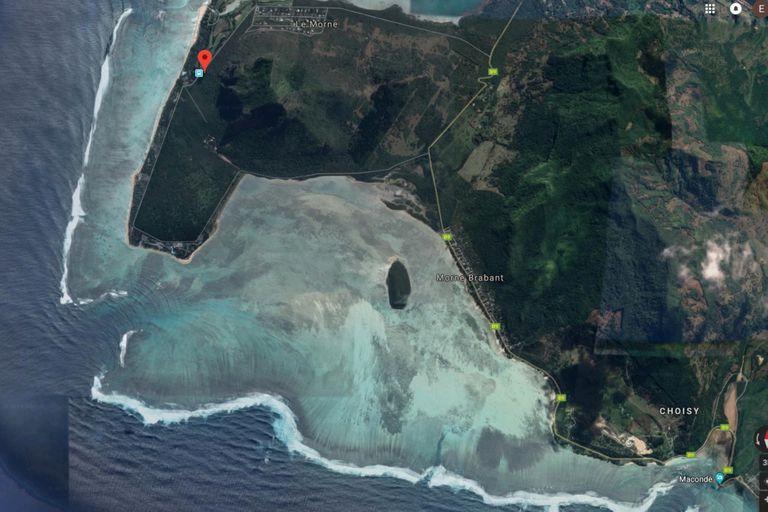 El efecto visual de la cascada es tan grande, que puede verse desde tomas satelitales de Google Maps