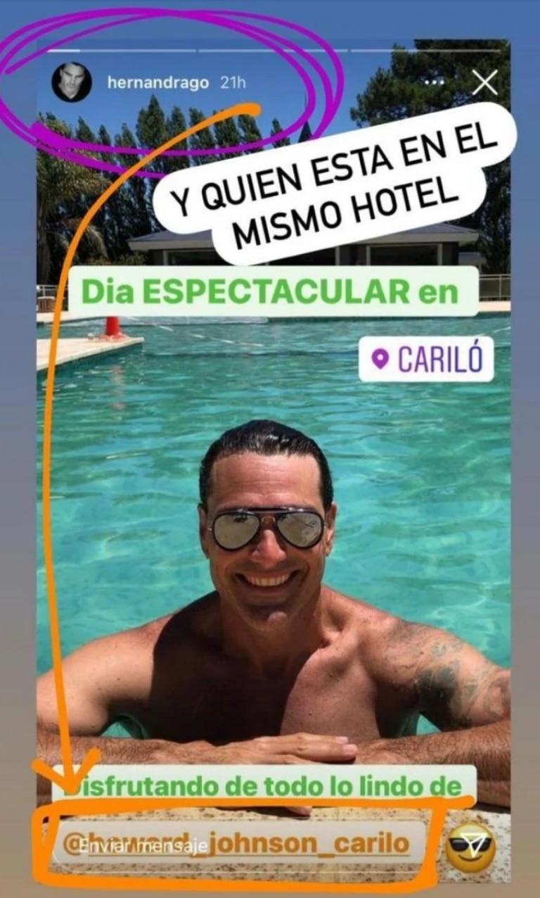 La captura de Hernán Drago que compartió Juariu (Instagram)