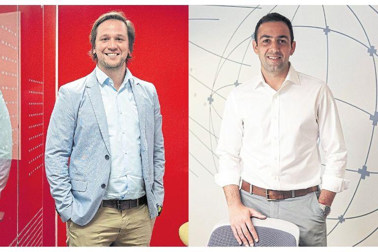 Los CEO muy jóvenes tienden a ser los propios fundadores de las empresas; aquí, las historias de dos excepciones argentinas. En la foto, Augusto Fabozzi, de Oracle, y Gastón Irigoyen, de Naranja X