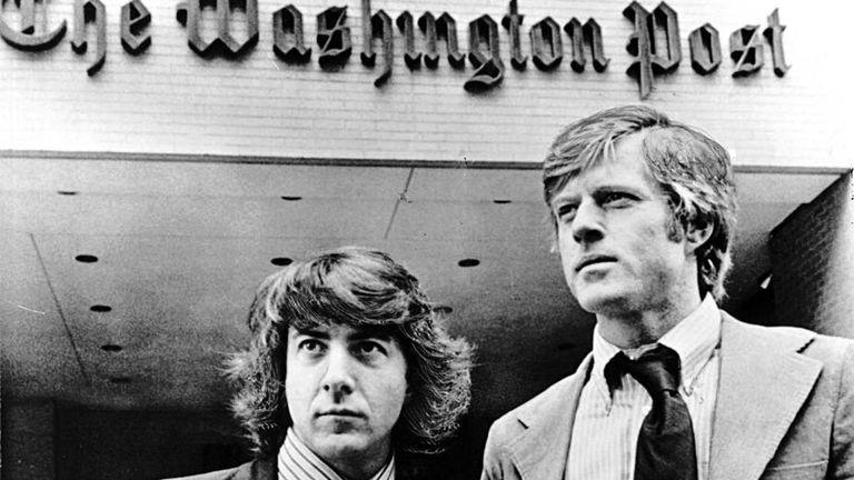 Dustin Hoffman y Robert Redford en Todos los hombres del presidente