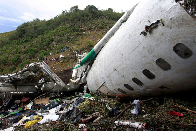 El avión que trasladaba a Chapecoense para jugar la final de la Copa Sudamericana 2016