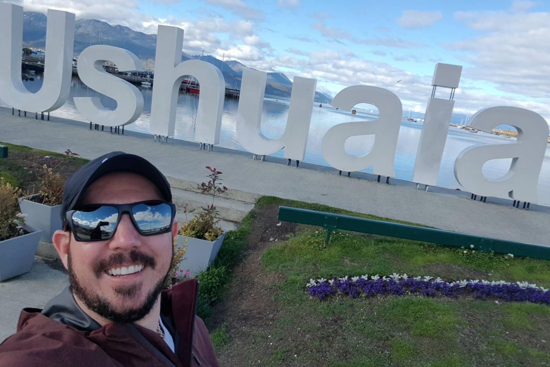 Leonardo en Tierra del Fuego, Argentina.