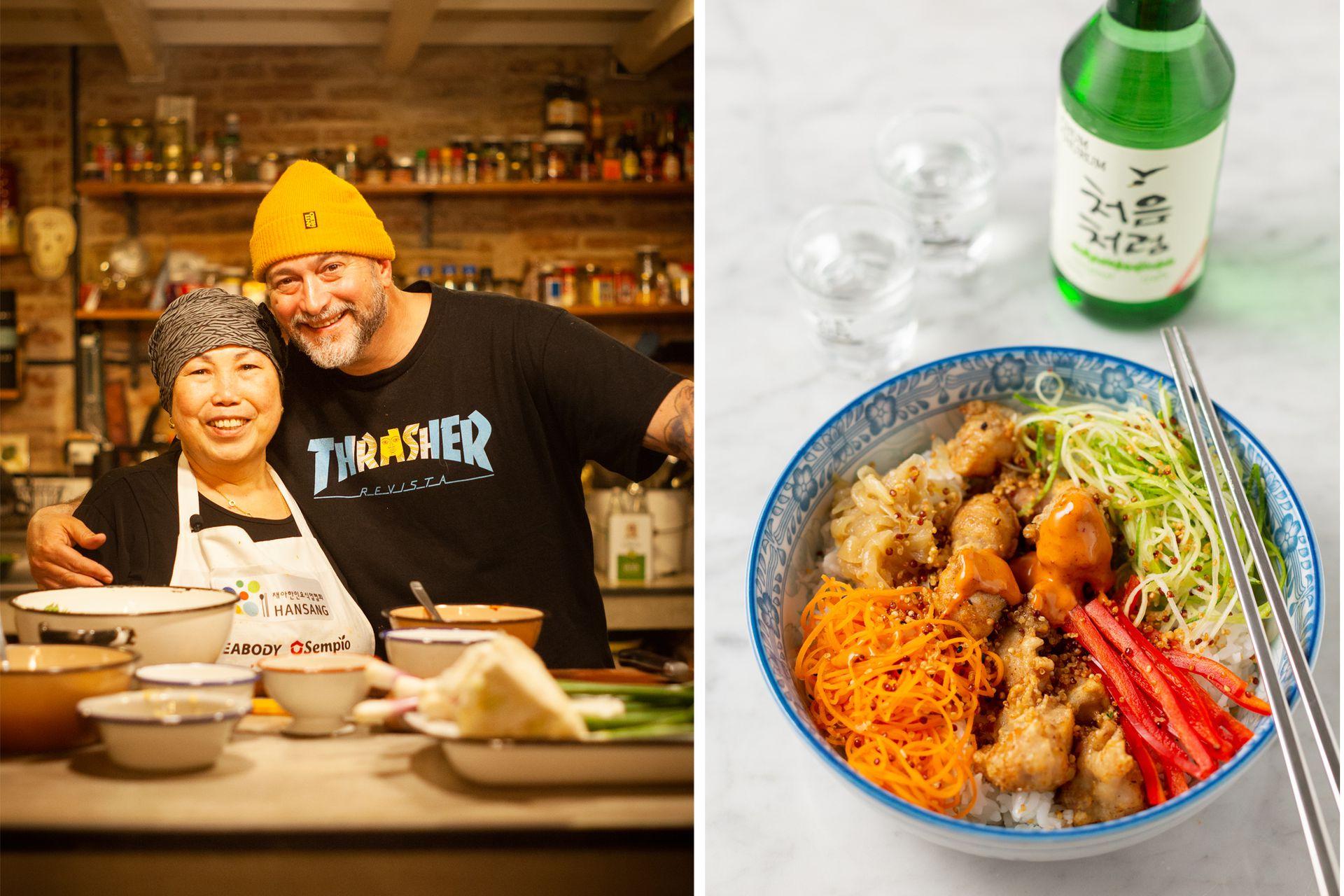Mamá coreana y Lelé Cristóbal darán clases especiales de cocina coreana.