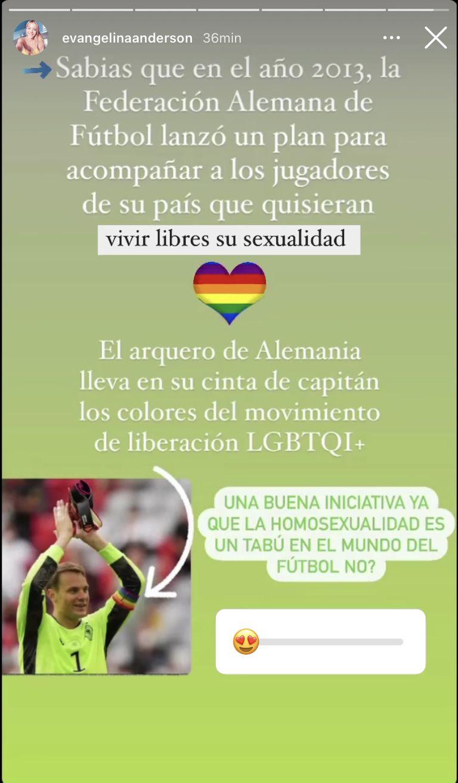 El mensaje en redes de Evangelina Anderson en favor de Neuer y su crítica al ambiente del fútbol