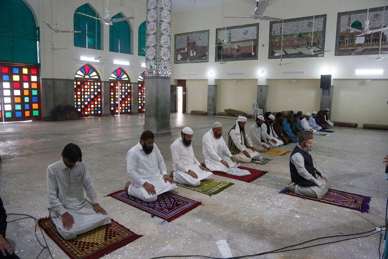 Una mezquita abierta, en Paquistán