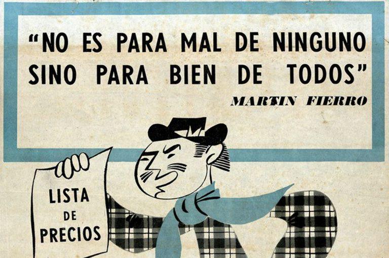 El afiche sobre control de precios en 1950 rescatado por el Archivo General