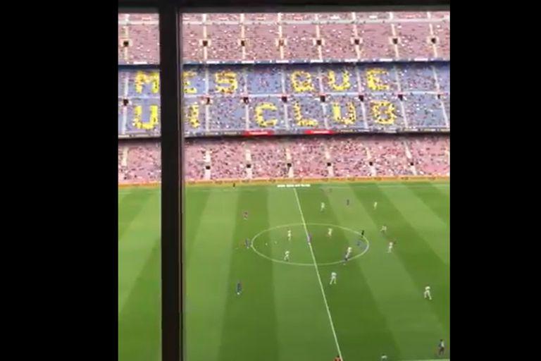 En el Camp Nou hubo gritos en contra de PSG
