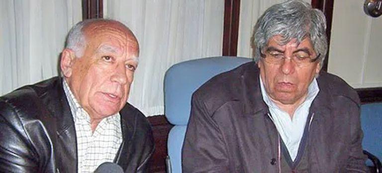 Abel Beiroz, junto a Hugo Moyano