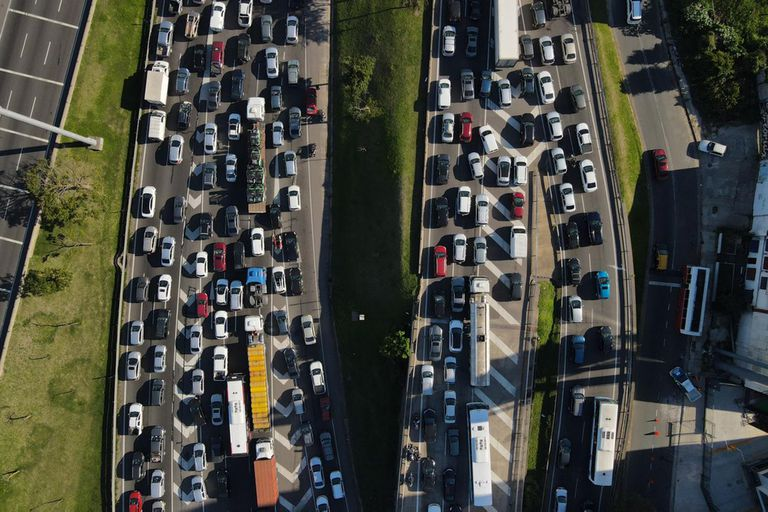 Colapso de tránsito en Panamericana por los controles
