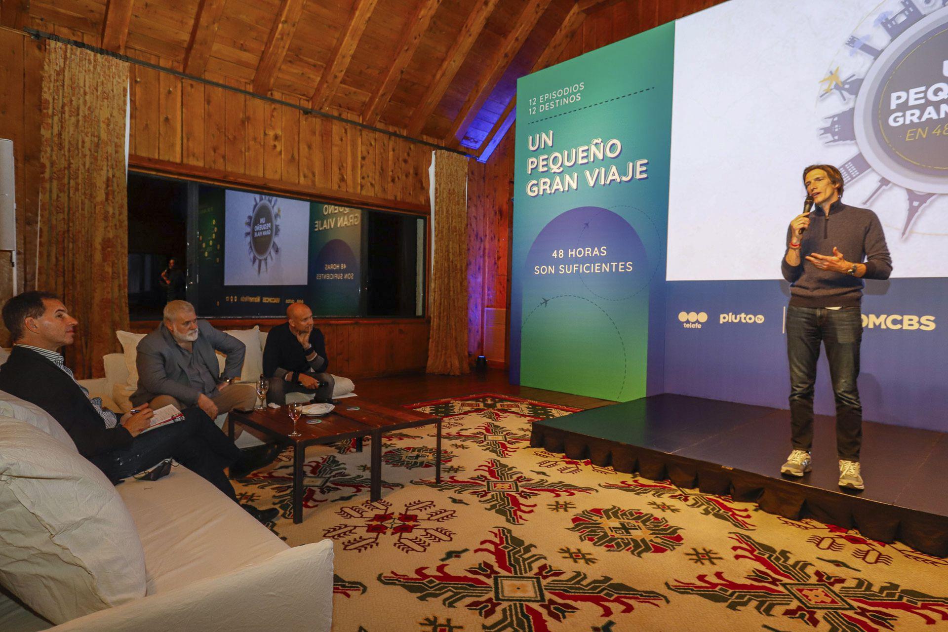 Iván de Pineda presenta en Bariloche la nueva temporada, primera en Telefe, de Un pequeño gran viaje en 48 horas