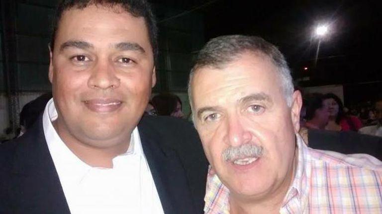 Trayán con el vicegobernador, Osvaldo Jaldo