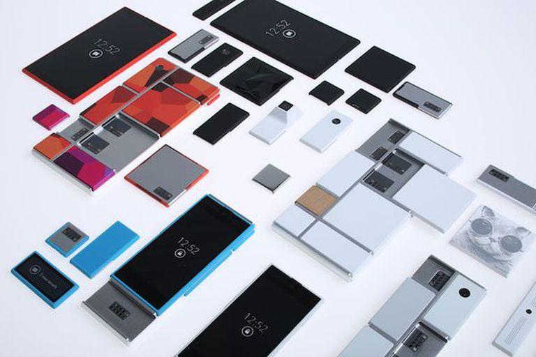 Una vista de cómo serían los módulos para crear un celular con piezas intercambiables