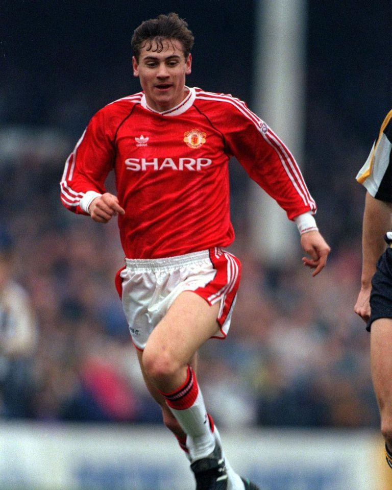 Kanchelskis, con la camiseta del Manchester United, en sus años en Old Trafford. Crédito: Instagram