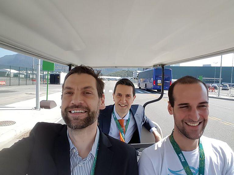 En los Juegos Olímpicos Río de Janeiro 2016, con Fabricio Oberto.