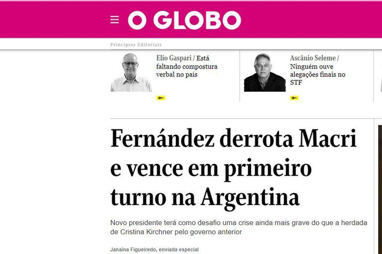 La cobertura del diario O Globo