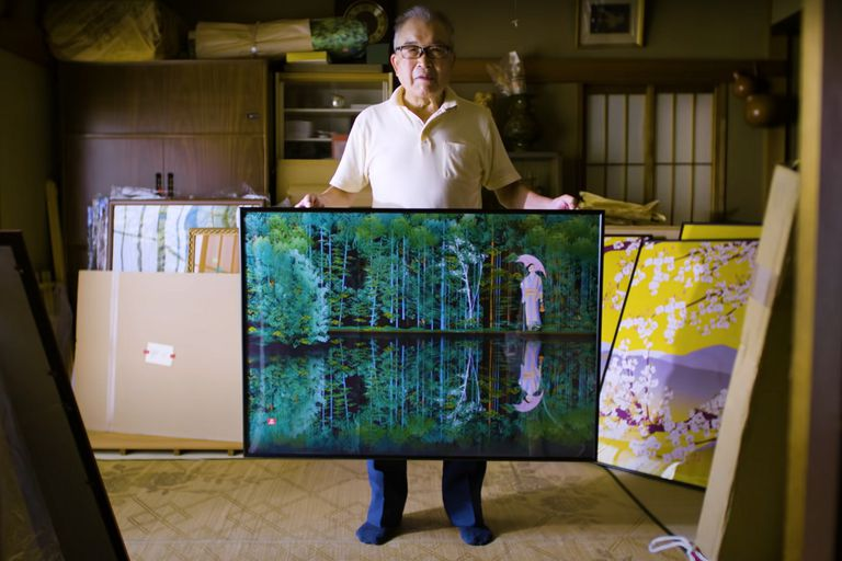 Estas son las impresionantes obras creadas por un artista japonés de 80 años