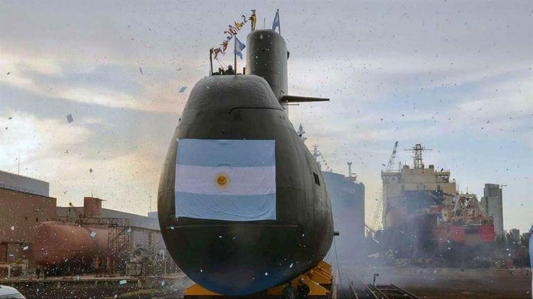 El submarino ARA San Juan, que desapareció el miércoles