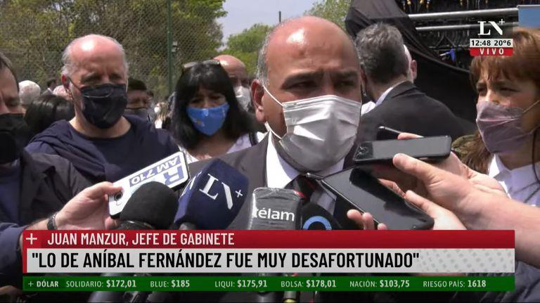 Juan Manzur fue el primer representante de la Casa Rosada en referirse públicamente a lo acontecido entre Nik y Aníbal Fernández