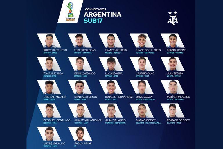 Sub 17: La original forma de presentar a los citados para el Mundial de Brasil