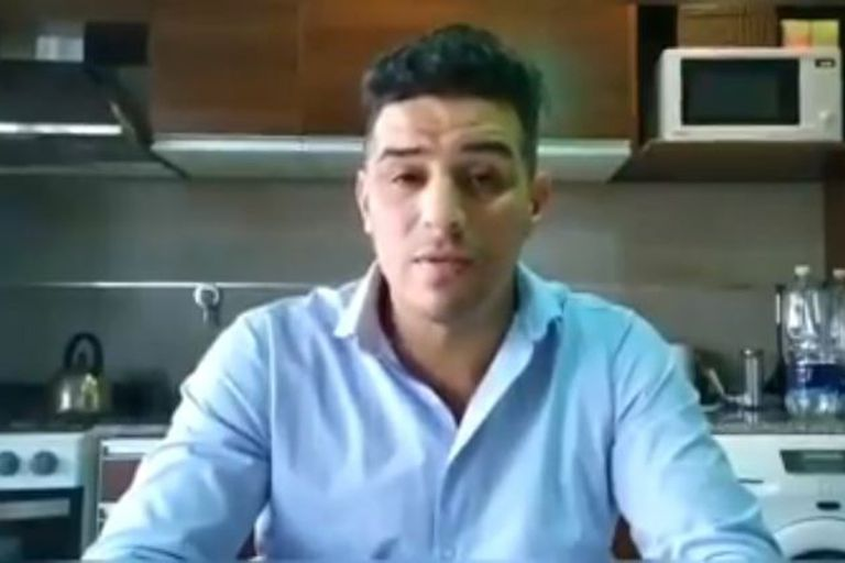 El intendente de Sarmiento, Sebastián Balochi,