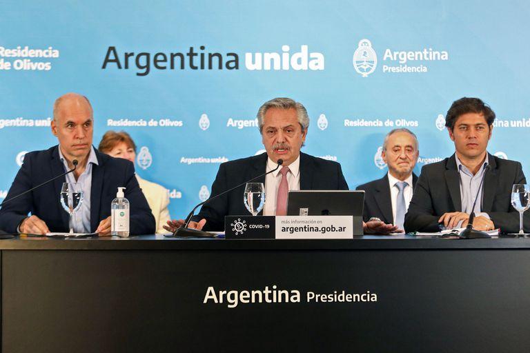 Fernández quiere repetir la foto de unidad con Larreta y Kicillof