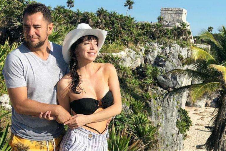 Mercedes Funes y Cecilio Flematti disfrutan de su luna de miel en México