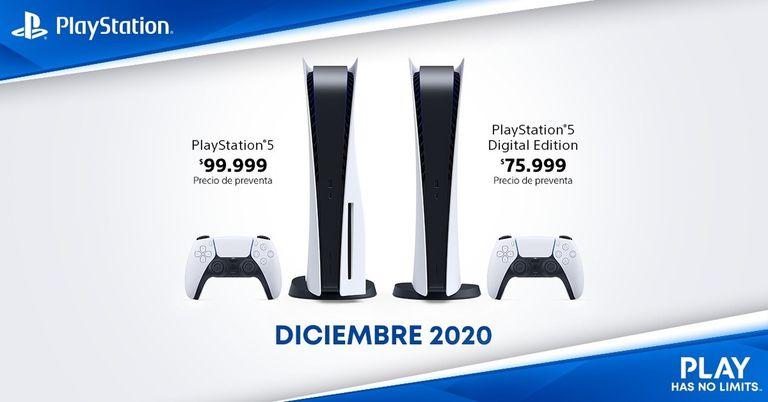 Los precios de preventa de la PlayStation 5 que comunicó Sony para la Argentina