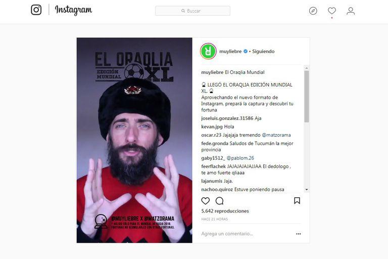 Así se ve una producción de Instagram TV del canal @muyliebre desde la web