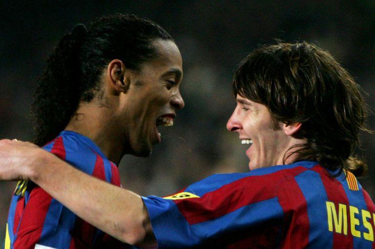 """""""Siempre fuimos muy amigos"""", dijo Ronaldinho sobre Messi"""