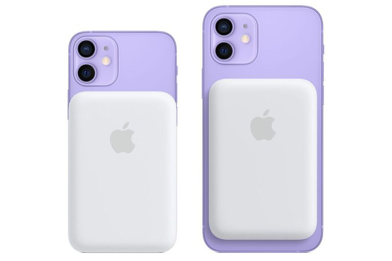 Una batería externa MagSafe para iPhone 12.  Apple ha lanzado su primera batería externa con sistema de carga inalámbrica MagSafe para su familia de teléfonos iPhone 12, que la compañía presentó a mediados de octubre del año pasado y hasta ahora no contaba con este accesorio oficial