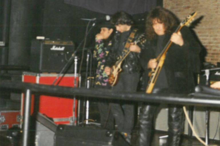 Gustavo Cerati, al fondo; Juanse y Pappo, guitarras en mano, poniéndole rock al verano.