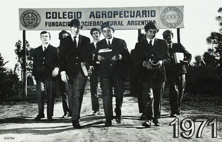 Año 1971. Primer día de clases en el Colegio Agropecuario de Realicó, La Pampa