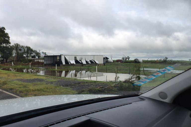 Los daños se extendieron por las zonas rurales de Laborde