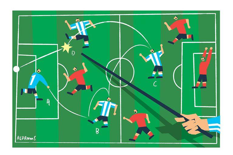 Goles en contra con jugadas preparadas de antemano