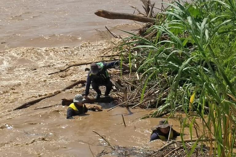 Operativo de búsqueda en el Río Bermejo